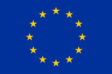 Vector of European union flag. Stars on the blue background.