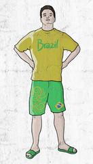 boy with brazil shirt