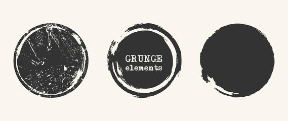 Grunge black shapes