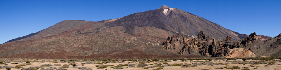 Poster Algérie Teneriffa Nationalpark mit Vulkan Tide