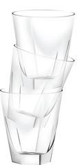 pila fila di bicchieri puliti