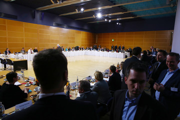 Coalition talks at the SPD headquarters in Berlin