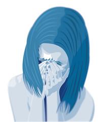 Bambina che piange, depressione, maltrattamento, picchiare, ragazza, violenza sulle donne