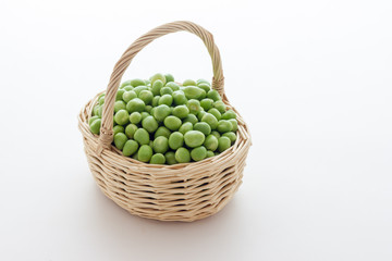 Bunch of biologic delicious green peas