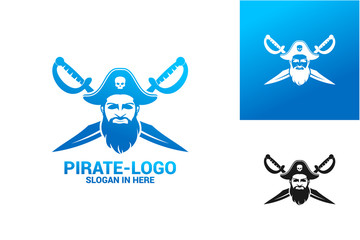 Pirate Logo Template Design Vector, Emblem, Design Concept, Creative Symbol, Icon