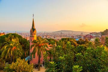 Autocollant pour porte Barcelona Park Guell