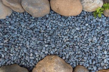 pebble in garden background Wall mural