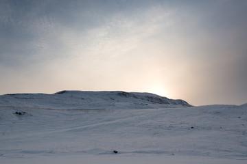Peaceful Landscape Sunset Iceland