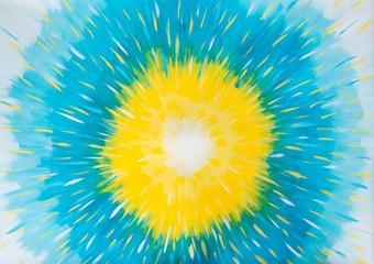 Löwenzahn / Sonne / Sonnenblume / Licht, Malerei mit Gouache-Farben