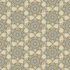 Seamless repeating pattern of mandalas