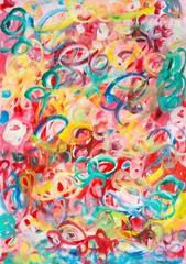 """Gemälde """"Lebenslust"""" von Carola Vahldiek (Gouache-Farben auf Papier)"""
