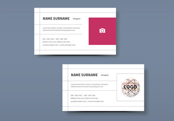 Simple Business Card Layouts 1