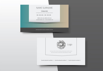 Simple Business Card Layouts 3