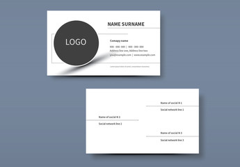 Simple Business Card Layouts 2