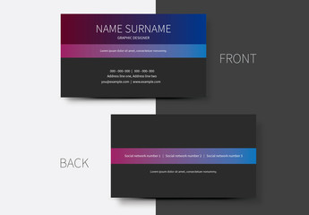 Simple Business Card Layouts 6