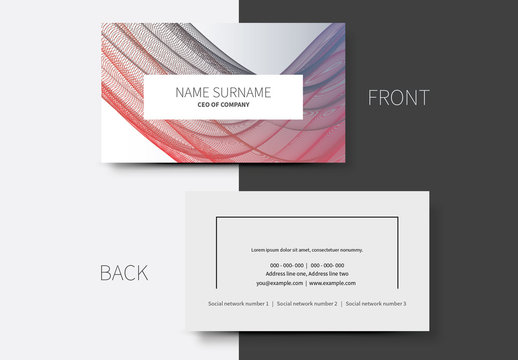 Simple Business Card Layouts 8