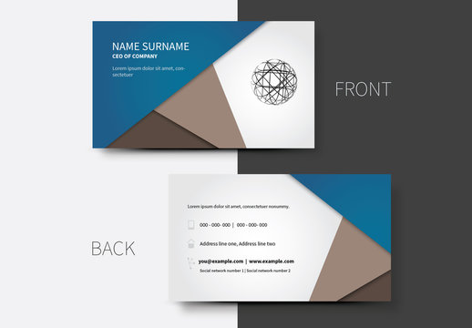 Simple Business Card Layouts 11