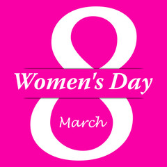 Icono plano 8 March y Women s Day con sombra