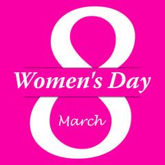 Icono plano 8 March y Women s Day con sombra