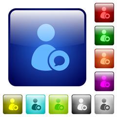 User comment color square buttons