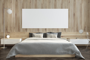 Dark wooden bedroom, poster