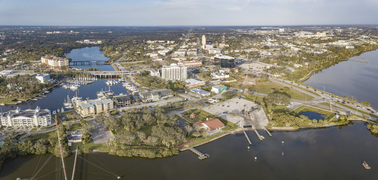 An Aerial View of Downtown Melbourne, Florida