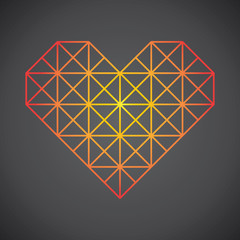Heart Triangle outline geometric