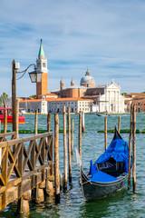 Foto op Canvas Gondolas Traditional gondola near St Marks Square in Venice