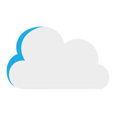 colorful nice cloud nature weather icon