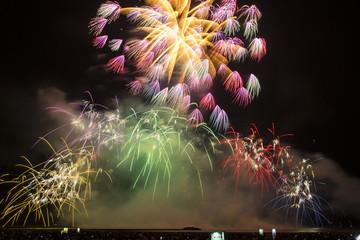 Fireworks over the Sea at the Kashiwazaki Festival