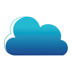 blue silhouette nice cloud nature weather icon