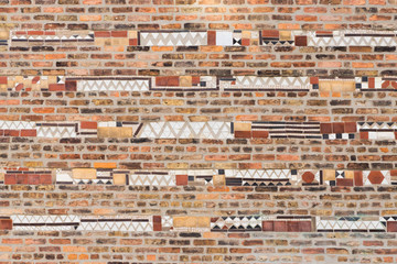 Brick Wall with Horizontal Tile Pattern