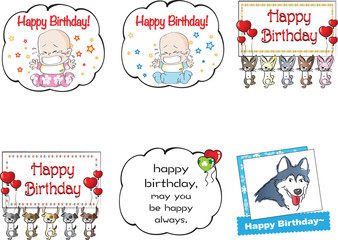 happy birthay card set