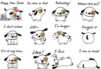 cartoon dog set