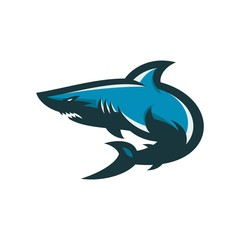 shark - vector logo/icon illustration mascot