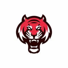 tiger - vector logo/icon illustration mascot