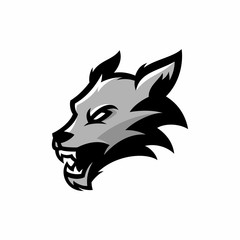 Wolf - vector logo/icon illustration mascot