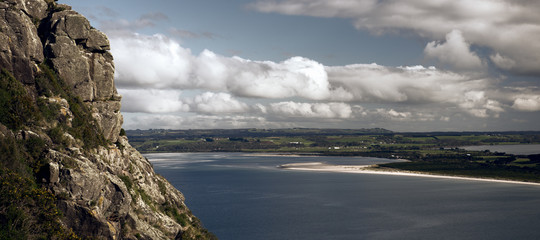 View of beach and ocean at Stanley, Tasmania. Fotomurales