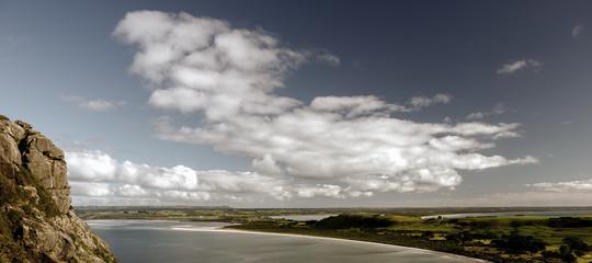 View of beach and ocean at Stanley, Tasmania. Fototapete