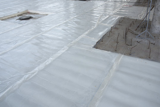 Water proof membrane protect  moisture under epoxy floor concrete slab