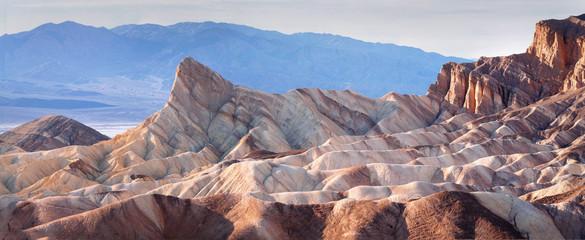 Classic view of Zabriskie Point, Death Valley