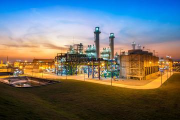 Turbine electric power plant sunset time