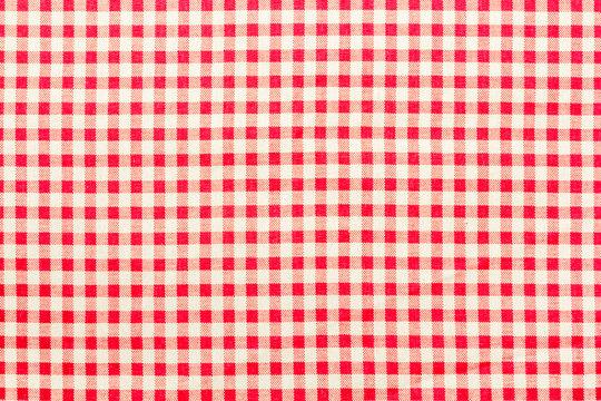 tissu Vichy à petits carreaux rouges