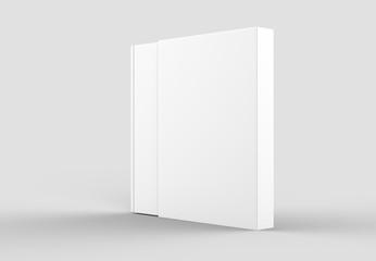 Slipcase book mock up isolated on soft gray background. 3D illustrating.