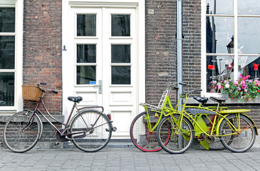Bicycles in front of house