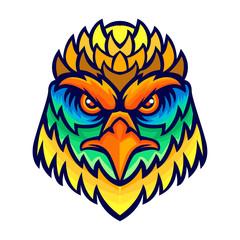 Colorful eagle artwork kid tees