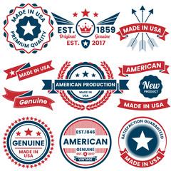America Vector label for banner