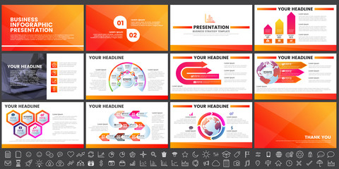 Modern Elements of infographics for presentations templates for banner