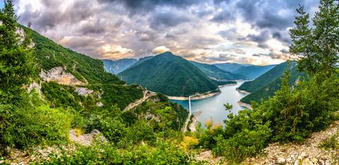 Wall Murals Mountains Montenegro mountains, Durmitor Piva, Tara Panorama