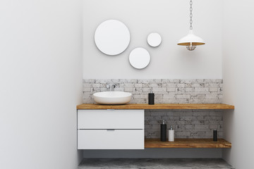 Wall Mural - Contemporary bathroom sink